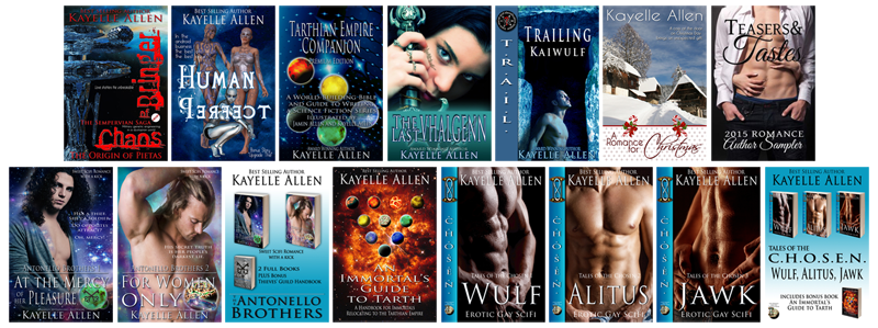 Books by Kayelle Allen via Romance Lives Forever Books